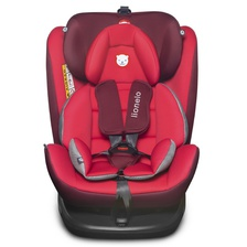 Автокресло LO-Bastiaan isofix 360 Red/Black
