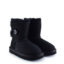 Угги UGG Kids Bailey Button II Black