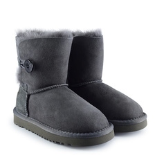 Угги UGG Kids Bailey Button II Grey
