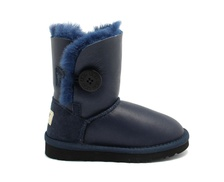 Угги UGG Kids Bailey Button Metallic Navy