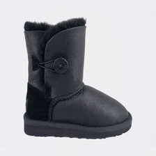 Угги UGG Kids Bailey Button Metallic Black