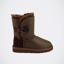 Угги UGG Kids Bailey Button Metallic Chocolate