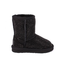 Угги UGG Kids Classic Short Serein II Black
